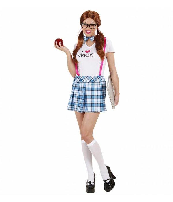 Nerdy schoolmeisje kostuum dame