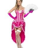 Roze Burlesque danseres kostuum