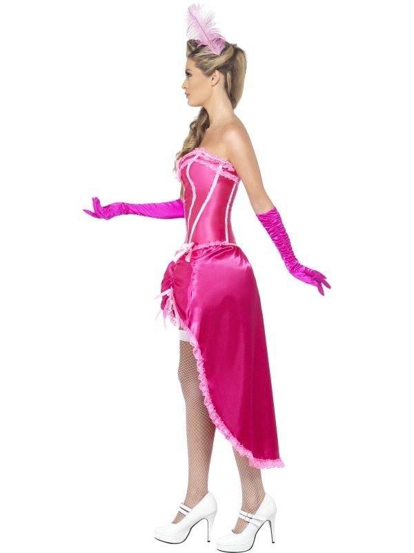 Roze Burlesque Danseres Kostuum Feestbazaar Nl
