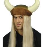 Viking helm met bont en haar