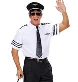 Pilotenshirt met stropdas en pet