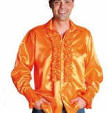 Rouches blouse luxe oranje