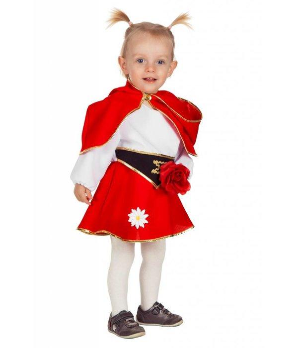 Roos jurkje met cape baby