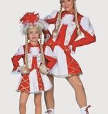 Dansmarietje kostuum kind rood/wit