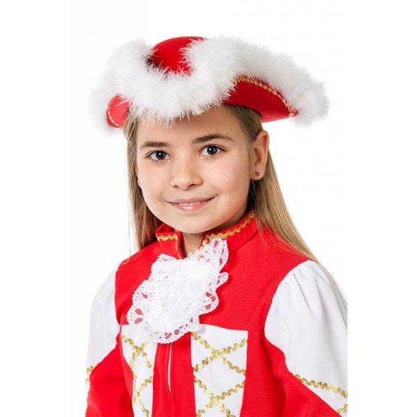 Dansmarietje hoed kind rood