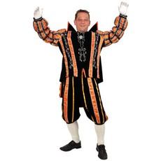 Prins Carnaval kostuum oranje/zwart