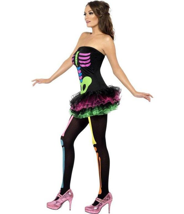 Fever neon Skelettenjurkje tutu