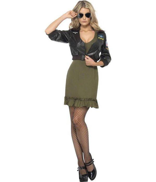 Sexy vrouwelijke Top Gun kostuum