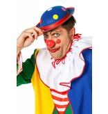Clownshoed met noppen blauw