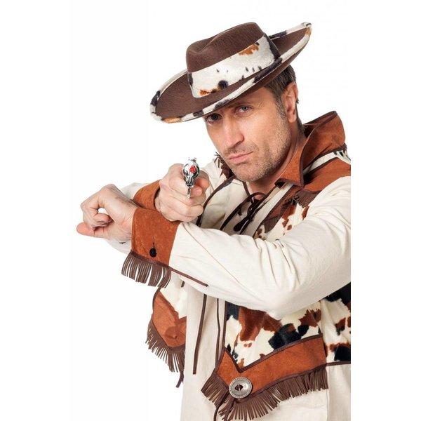 Cowboyhoed koe bruin