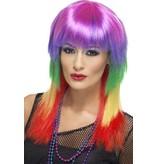 Rainbow funky pruik