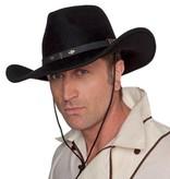 Rodeo hoed wolvilt zwart