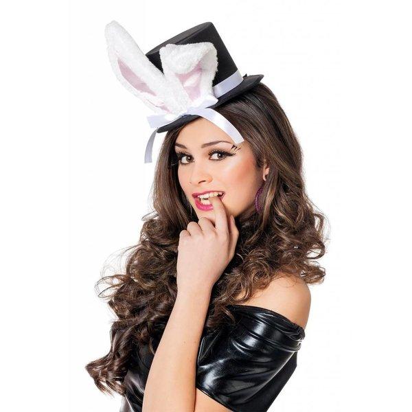 Hoge hoed met konijnenoren