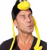 Vogelhoed zwart/geel