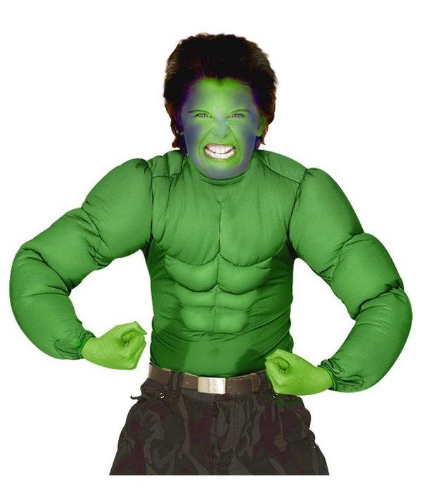 Hulk spierballen shirt kind