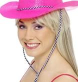 Cowboy glitter hoed plastic neon pink
