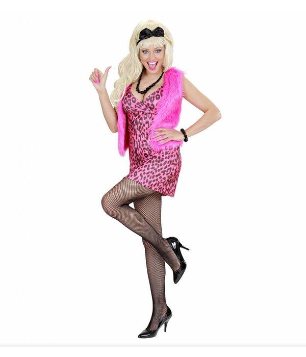 80's meisje roze