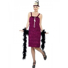 Jazz Flapper kostuum Burgundy