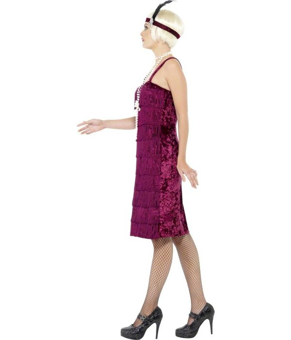 Jazz Flapper kostuum Burgundy