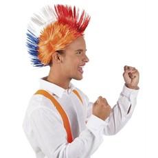 Pruik Spiky Mike oranje