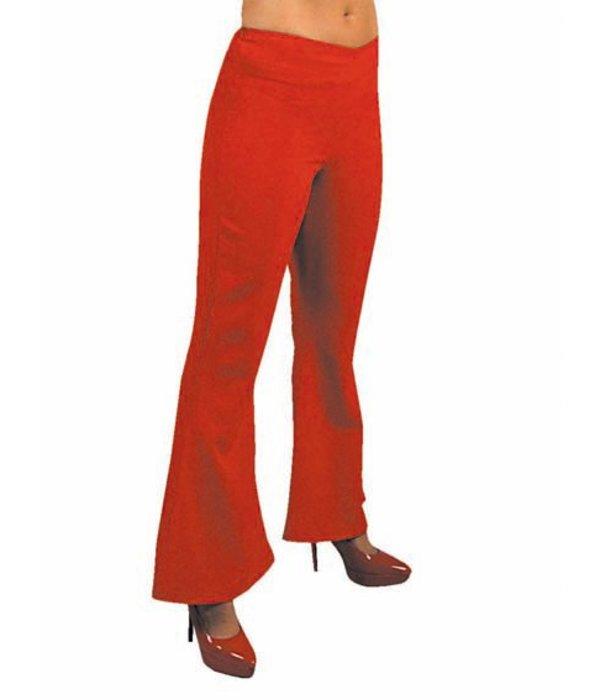 Hippie broek dames rood