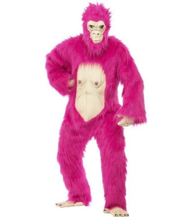 Gorilla deluxe kostuum neon pink