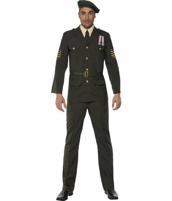 Wartime Officier kostuum man