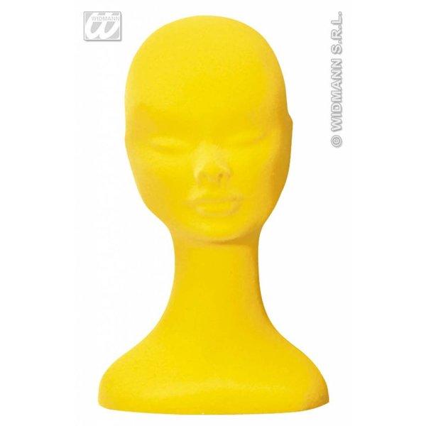 Paskop fluweel geel