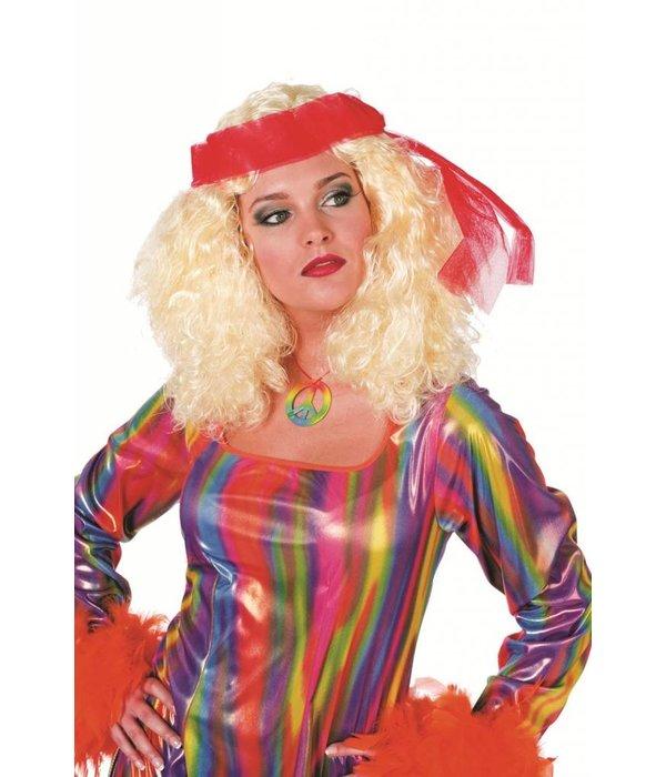 Pruik blond Sandra