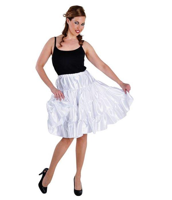 Volangen rok tot knie wit