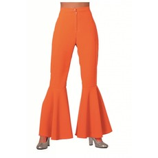Hippiebroek bi-stretch oranje
