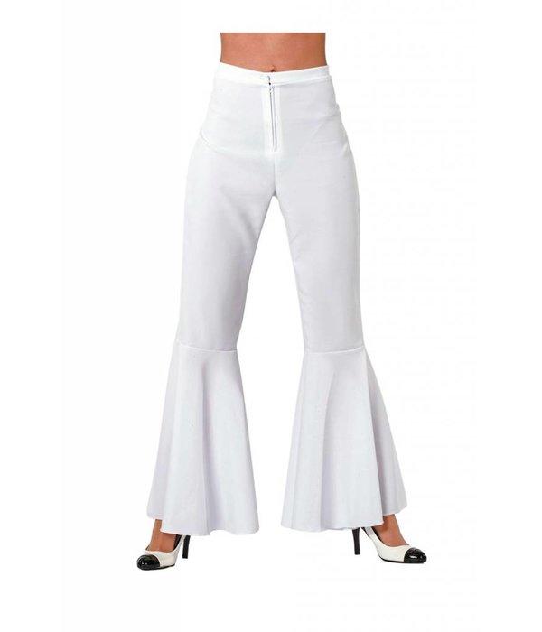 Hippie broek bi-stretch vrouw wit
