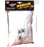 Spinneweb 50 gram met 3 spinnen