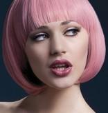 Professionele pruik kort pink Mia