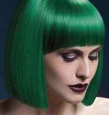 Professionele pruik kort groen Lola