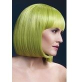 Professionele pruik pastel groen Elise