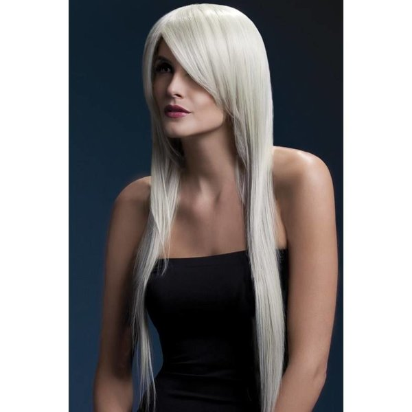 Professionele pruik lang blond Amber