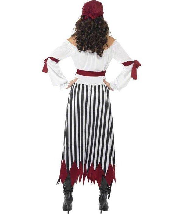 Pirate verkleedkleding dame lang