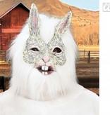 Masker konijn met pluche haar