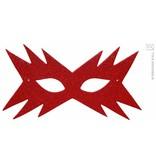Oogmasker ster rood