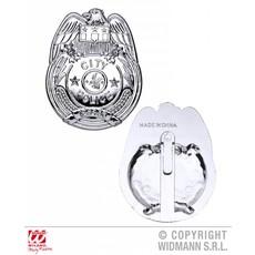 Zilveren politie badge