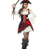 Glamour piratenkostuum vrouw