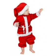 Baby kerstmannetje imitatie fluweel