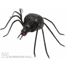 Glitter spin zwart 6,5cm