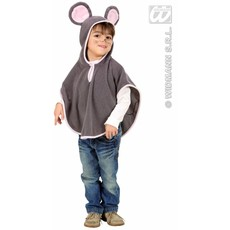 Poncho pluche kleine muis