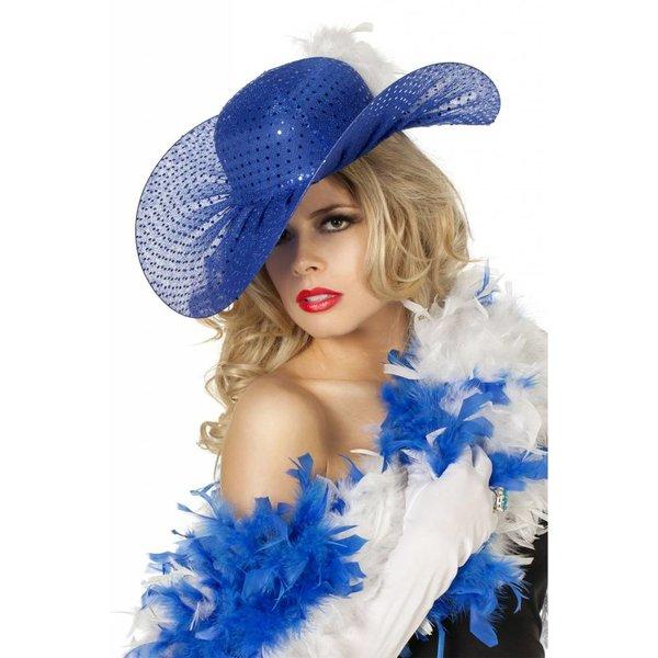 Bea hoed pailletten blauw