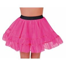 Petticoat kort roze met brede elastiek