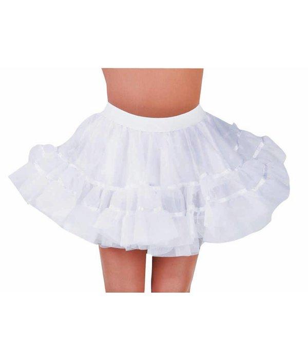 Petticoat kort wit brede elastiek