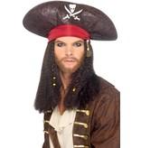 Piratenhoed met haar