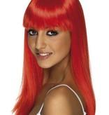 Glamourama pruik neon rood